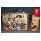 The Lawman Vintage Tin Lunch Box