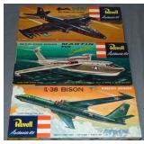 Lot of Three Revell Airplane Model Kits Boxed