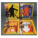 (4) G.I. Joe AT Sets, Infiltration, Karate, MIB