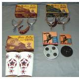 Boxed Gene Autry Cowboy Spurs, Cuffs & Films
