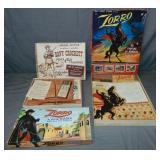 Davy Crockett & Zorro Paint Set & Board Game