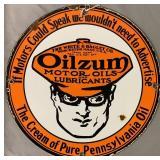 Oilzum Motor Oils Porcelain Advertising Sign