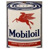 Mobiloil Porcelain Advertising Sign