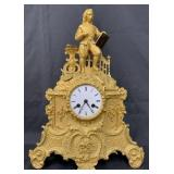 Dore Bronze French Mantle Clock, Medaille Dargent