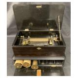 Swiss Music Box with 4 Interchangeable Cylinders