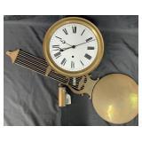 Large 19th Century Regulator Clock, Works Only