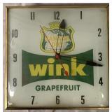 Canada Dry Wink Grapefruit Advertising Clock