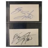 Musicians Autograph Lot.