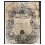 Oceanside New York. Fire Certificate.