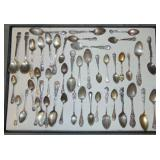Sterling And Other Souvenir Spoons.