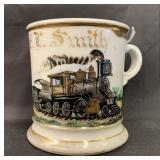 Occupational Shaving Mug, Railroad Engineer