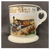 Occupational Shaving Mug, RR Steam Engine & Cars