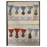 Medals of Merit Lot of Ten.