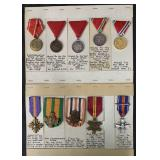 Lot of Ten Military Medals.