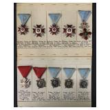 Military Medal Lot Ten Pieces.