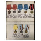 Eight Military Medals.