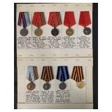 Nine Military Medals.