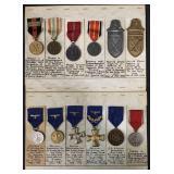 German World War Two Medal Lot of Twelve.