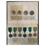Lot of Ten Medals. Bravery for Eastern Peoples.