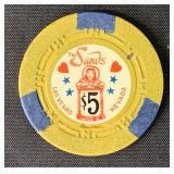 Rare. Sands Casino Five Dollar Chip.