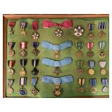 Large Tray Lot of Military Medals.