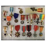 Tray Lot of Medals.