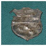 Scarce Civil War Identification Badge.