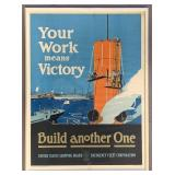 """Fred Hoertz, """"Your Work Means Victory"""", WWI Poster"""