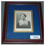 Clara Barton Printed Image Signed.