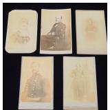 Lot of Five Civil War CDV