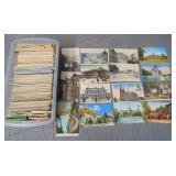 Estate Post Card Lot in Plastic Tub.