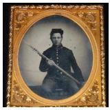 Civil War 1/6th Plate Ambrotype.