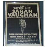Vtg Sarah Vaughan Jazz Concert Poster