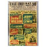 1961 Jackie Wilson vs Jerry Lee Lewis Window Card