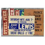 (5) Vintage Jerry Lee Lewis Concert Posters
