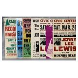 (7) Vintage Jerry Lee Lewis Concert Posters