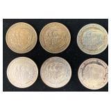 (5) Bronze & Silver World Flight LZ-127 Medals