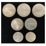 (7) Graf Zeppelin Commemorative World Flight Coins