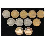 (11) Lakehurst NJ Naval Air Dirigible Medals