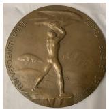 1925 Bronze Zeppelin Eckener Donation Plaque