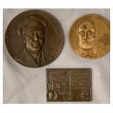 Lot of 3 Commemorative Zeppelin Medallions