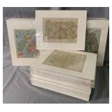 Lot of (50) Matted Maps.
