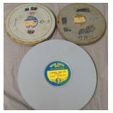 Lot of 3 United States Navy Airship Film Reels