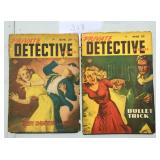 Private Detective Magazine. Lot of Two.
