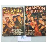 Detective Pulp Lot of Two.