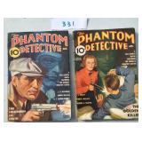 Phantom Detective. Lot of Two.