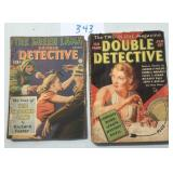 Double Detective Magazine. Lot of Two.
