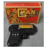 Marx. G-Man Gun with Box.