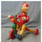 Howdy Doody Wood Jointed Tricycle Rider.
