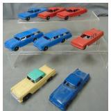 Lot of (8) Tootsie Toy Automobiles